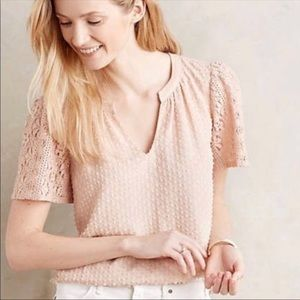 Anthropologie One September Pink Blouse